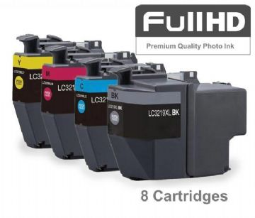 Brother LC3219XL High Capacity 4 Colour Ink Cartridge DOUBLE Multipack (LC-3219XLBK/C/M/Y)
